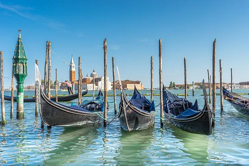 Gondola's op de Canal Grande in Venetië