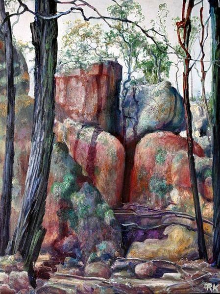 Australische Landschap in victoria van KB Prints