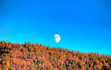 Der Mond über dem Tegernsee von Roith Fotografie