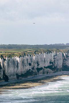 De kliffen aan de kust van Normandië van Veri Gutte