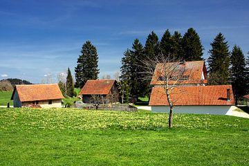 Boerderij in Duits landschap van Yvonne Smits