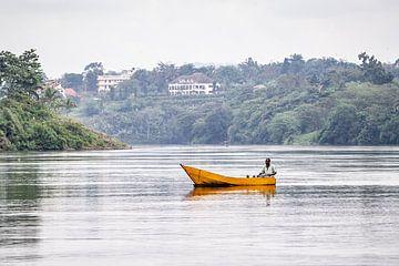 Fischer auf dem Nil in Uganda von Eric van Nieuwland