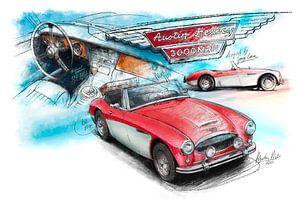 Austin Healey 3000 Mk III - 1964 (rot/weiss)