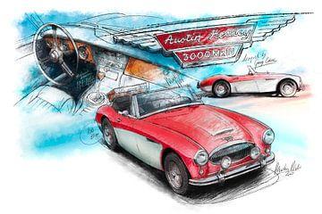 Austin Healey 3000 Mk III - 1964 (rot/weiss) von Martin Melis