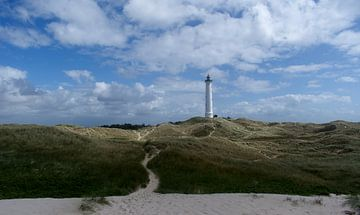 Phare dans les dunes danoises sur Tanja Huizinga Fotografie