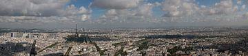 Kleur panorama Parijs van Mark Koster