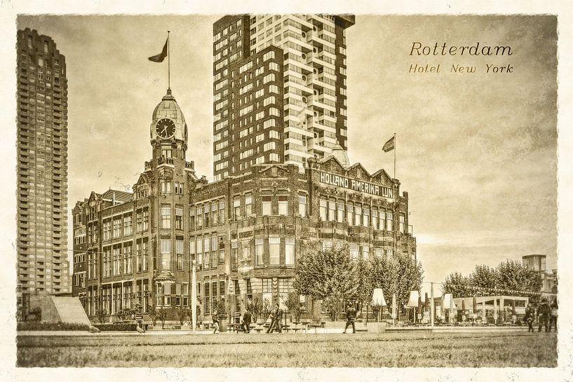 Oude ansichten: Hotel New York van Frans Blok