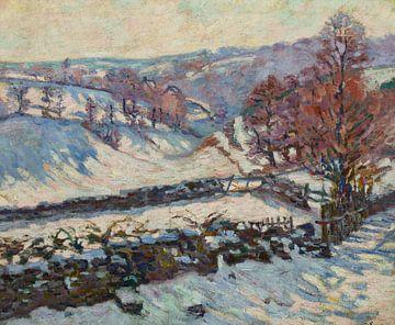 Armand Guillaumin~Sneeuwwitje Landschap in Crozant
