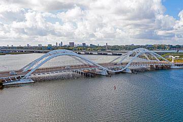 Luftaufnahme von Enneüs Heermabrug in Amsterdam von Nisangha Masselink