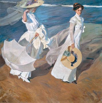 Wandelen langs de kust, Joaquín Sorolla y Bastida