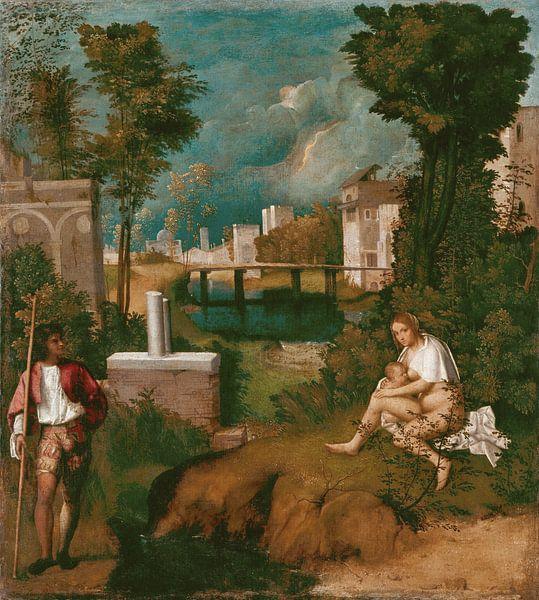 Giorgione, La tempesta, Gallerie dell'Accademia, Venezia van Meesterlijcke Meesters