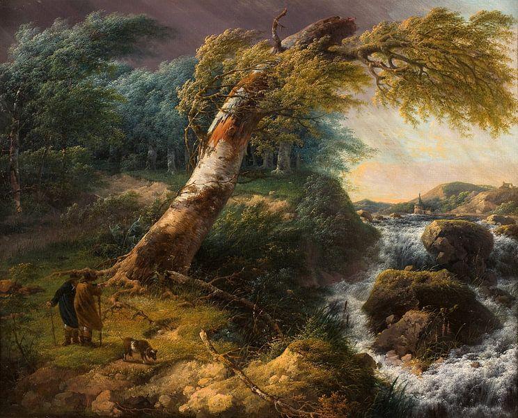 Stürmische Landschaft, Gerard van Nijmegen von Meesterlijcke Meesters