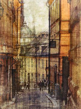 Stockholm de oude stad met koepel van Joost Hogervorst