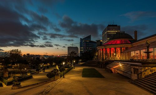Zonsondergang, Kruidtuin (Brussel) van Werner Lerooy