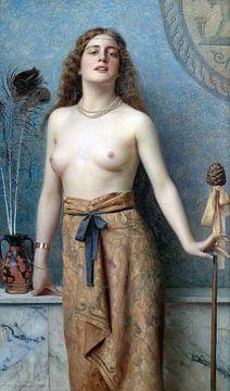 Junger Bacchant mit einem Thrysus, Max Nonnenbruch, 1899 von Atelier Liesjes