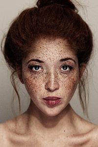Freckled Girl portrait