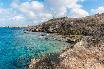 Leuchtturm auf der Insel Caracas Bay in Curacao von Joke Van Eeghem