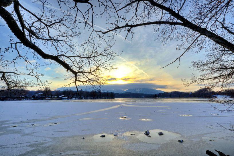 Sonne überm Berg - Staffelsee von Roith Fotografie