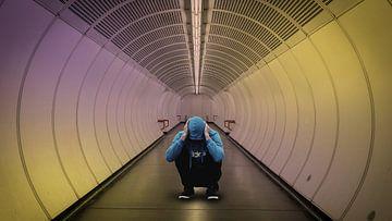 blue hoodie man tunnel van H.m. Soetens