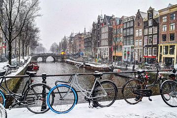 Amsterdam Winter Oudezijds Voorburgwal von Hendrik-Jan Kornelis