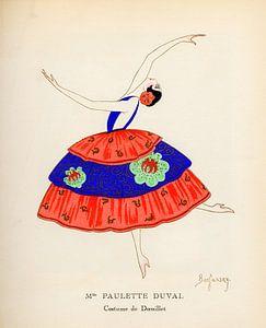 Jugendstil,  Vintage tijdschrift cover Gazette Bon Ton, 1920 van Martin Stevens