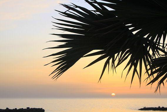 Playa Amadores Gran Canaria Sonnenuntergang van Renate Knapp