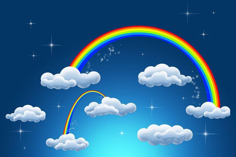 rainbow clouds van Patricia Verbruggen