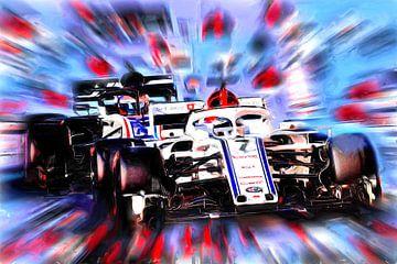 Kimi Räikkönen alias The Iceman #7 (Variante 2) van Jean-Louis Glineur alias DeVerviers
