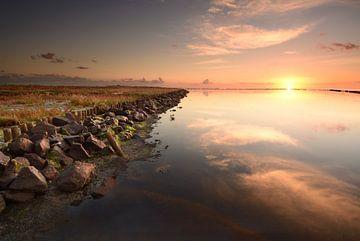 De Schorren Texel bij zonsopkomst sur John Leeninga