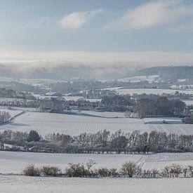 Panorama van Gemeente Vaals in de winter van 2019 von John Kreukniet
