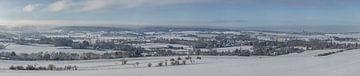Panorama van Gemeente Vaals in de winter van 2019 van John Kreukniet