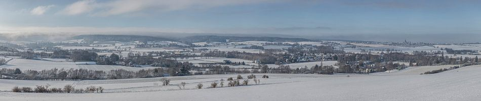 Panorama van Gemeente Vaals in de winter van 2019 sur John Kreukniet