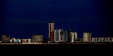 skyline Vlissingen - nacht van Yvonne Blokland