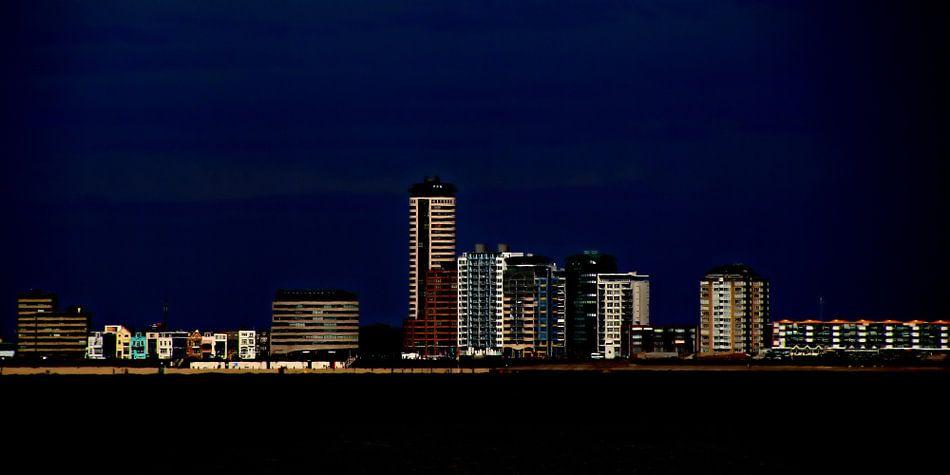 skyline Vlissingen - nacht