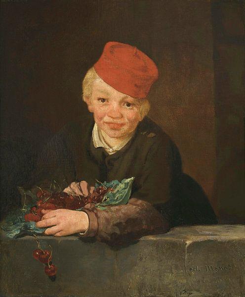 Junge mit Kirschen, Édouard Manet von Meesterlijcke Meesters