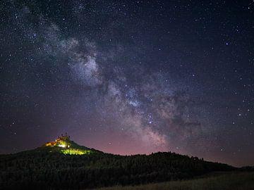 Kasteel Hohenzollern onder de Melkweg van Keith Wilson Photography