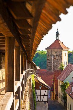Rothenburg ob der Tauber in Beieren van Werner Dieterich