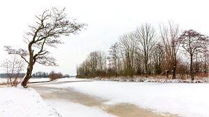 Winter aan de oever van het Leekster Hoofddiep van