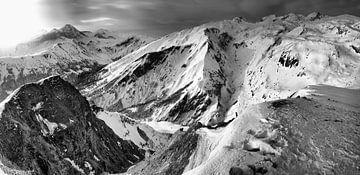 Franse Alpen studie 2 in zwartwit van