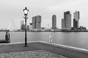 Kade Rotterdam in zwart-wit