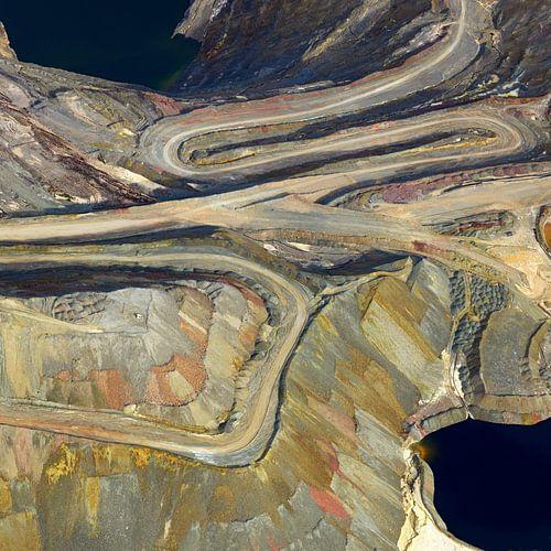 open groeve bij de Ray mijn, Kearny, Pinal County, Arizona, USA van Marco van Middelkoop