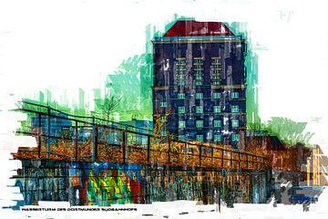 Dortmundse watertoren Pop Art van Johnny Flash