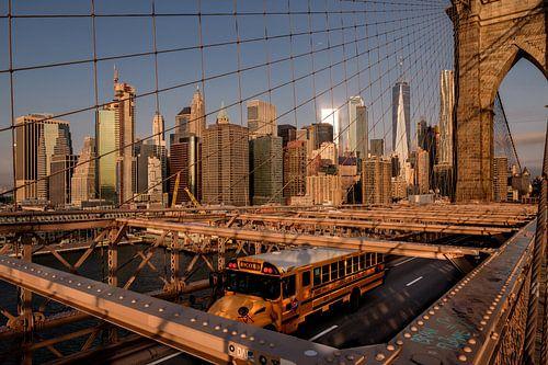 Brooklyn Bridge  mit Süd Manhattan van