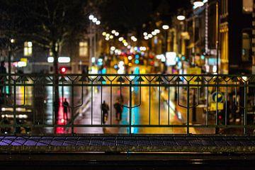 Blik op Haarlem vanaf station van