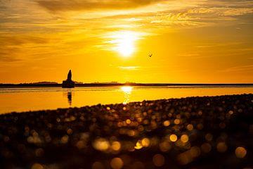 Sonnenuntergang in der Somme Bay von Karin Bakker