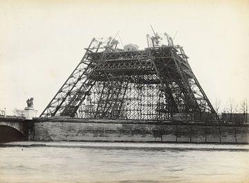Bau des Eiffelturms 1889 von Atelier Liesjes