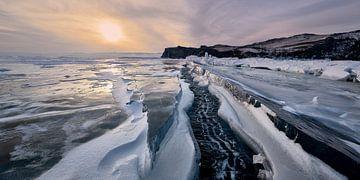 Scheur in het ijs. van Jeroen Florijn
