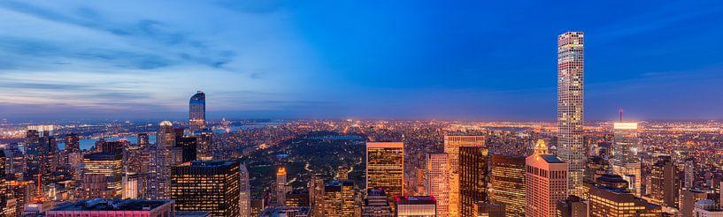 Central Park en Upper Side Manhattan van Top of the Rock van Mark De Rooij