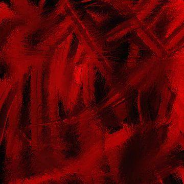 Rot-Schwarz-Pointillismus von Maurice Dawson