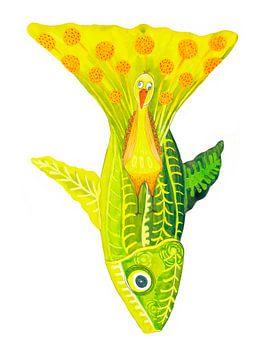 Grüne Fische von Edith van Zutven